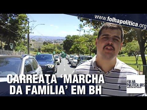 'Marcha da Família' lota ruas em Belo Horizonte em defesa da liberdade e em apoio a Bolsonaro