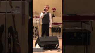 8 year old Nathan Taylor sings Magnify by We Are Messengers