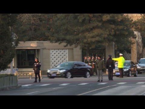 Kim Jong Un's motorcade leaves Chinese state guesthouse