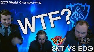 SKT VS EDG 기적의 한타 전세계 해설진 반응 / The reaction of commentators around the world - SKT VS EDG