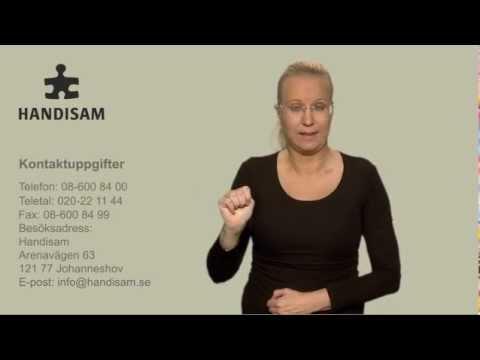 Kontaktuppgifter till Handisam på teckenspråk