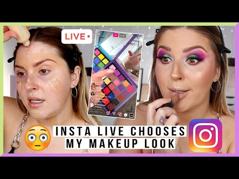 "INSTAGRAM LIVE picks my makeup! ? purple & green - HELP""!""!"