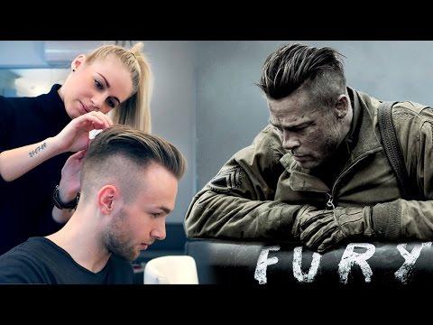Brad Pitt Hair from FURY ★ Professional Guide ★ Men's Undercut
