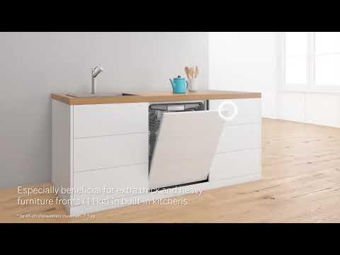 VarioHinge: Ratkaisu täysin kalustepeitteisiin astianpesukoneisiin ja moderneihin keittiöihin.
