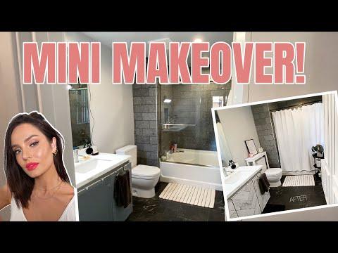 Small Bathroom Makeover! Temporary Renovations for Rental Apartment