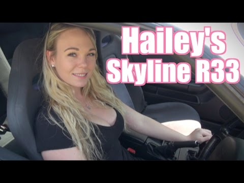 Hailey's Sexy Skyline R33 GTR - JDM GIRL!