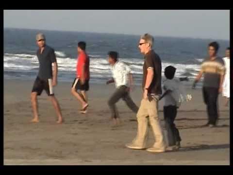 Englishman plays football in Bangladesh St Martin's Island