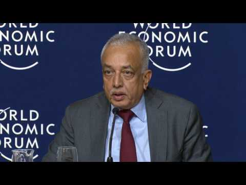 Davos 2017 - Press Conference with the Prime Minister of Sri Lanka