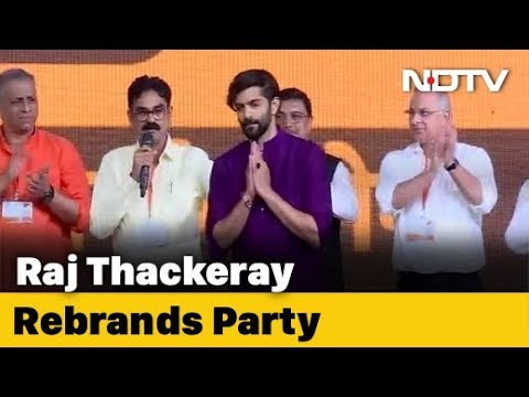 Raj Thackeray Launches Son Amit Thackeray In Party, With A New Flag