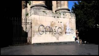 Catania, graffiti su chiesa S.Nicolò