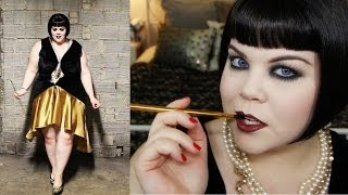 1920s Makeup Plus Size Flapper Halloween Tutorial