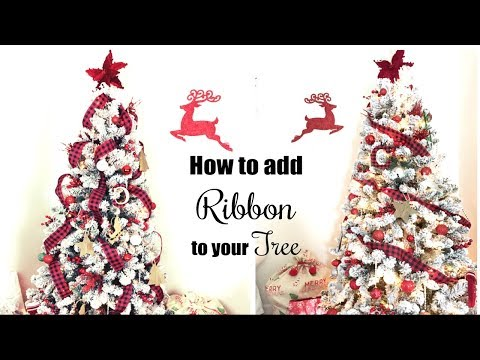 HOW TO PUT RIBBON ON A CHRISTMAS TREE | 3 WAYS | MOMMA FROM SCRATCH