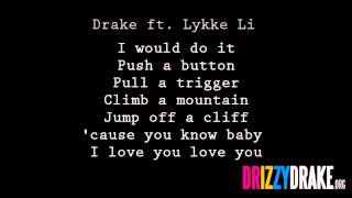 Drake ft. Lykke Li - Little bit Lyrics [VIDEO]