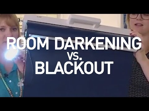 Room Darkening vs Blackout Shades