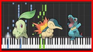 Pokemon - Pokemon Johto - Opening-anmie-{easy piano tutorial}-(Synthesia)-HD