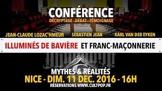 Conférence à Nice Illuminati et Franc-maçonnerie : Mythes et Réalités.