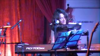 piano and  harmonica played at the same time.......christa elmer performing sometimes