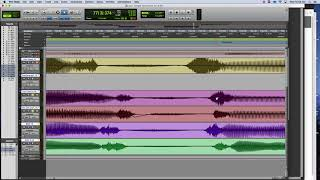 Pro Tools Editing Vocal Timing Using Clip Gain Line and Hard Edits