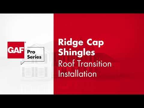 GAF Ridge Cap Transitions