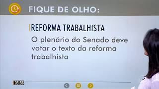 Principais notícias do jornal Hora 01 - 11/07/2017