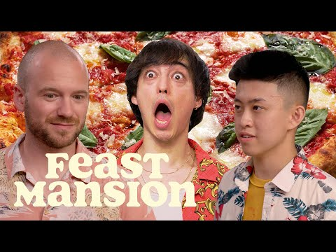 Feast Mansion S1: E#9 - Joji and Rich Brian Make Pizza and Hot Sauce with Sean Evans (Part 1) | Feast Mansion