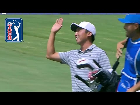 Doug Ghim holes out for eagle at Wyndham 2018