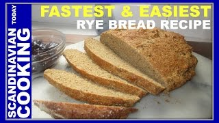 How To Make Homemade Rye Bread Recipe From Scratch With Baking Powder 🍞