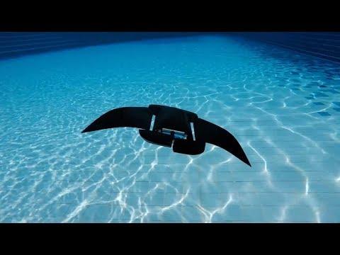 Manta ray robot offers alternative to existing autonomous underwater vehicles
