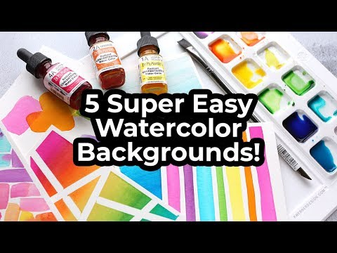 5 SUPER EASY Watercolor Backgrounds for Cards + NEW Water Media from Waffle Flower