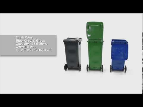 Trash Cans 32 Gallon Models TH-32 All Colors