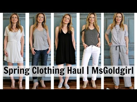 Spring Clothing Haul | MsGoldgirl
