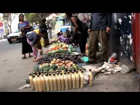 Lemon juice being sold in MC Rum bottles in India