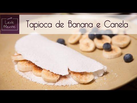 Tapioca doce - banana com canela