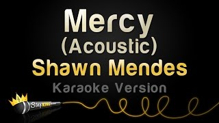 Shawn Mendes - Mercy (Acoustic) (Karaoke Version)