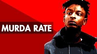 """MURDA RATE"" Trap Beat Instrumental 2019   Rap Hiphop Freestyle Trap Type Beats   Free DL"