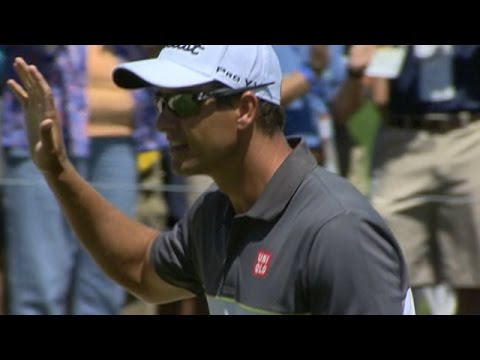 Adam Scott's beautiful chip-in birdie at Bridgestone