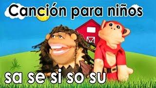 Canción sa se si so su - El Mono Sílabo - Videos Infantiles - Educación para Niños #