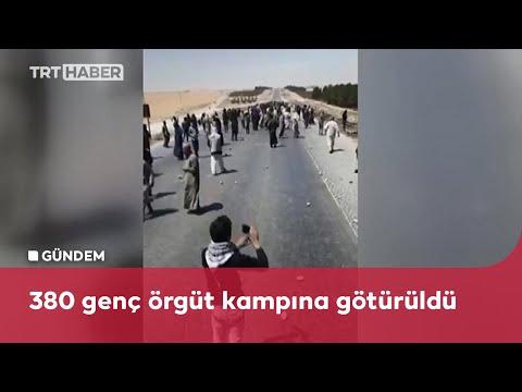 PKK/YPG Suriye'nin kuzeyinde gençleri silah zoruyla kampa götürüyor