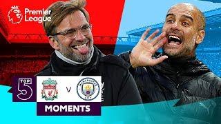 Liverpool v Manchester City   Top 5 Premier League Moments   Salah, De Bruyne, Sterling