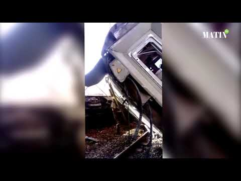 Video : Déraillement d'un train entre Kénitra et Salé