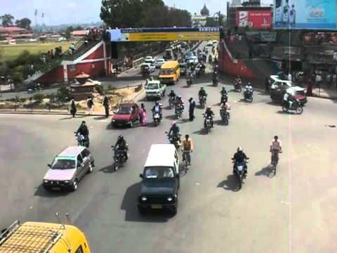 Crazy traffic in Nepal, Kathmandu (April 2010)
