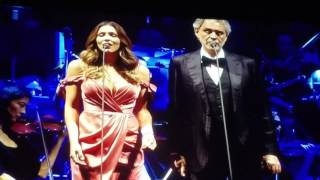 """Cant Help falling in Loving w you"" Andre Bocelli w Katharine McPhee Live New Jersey"