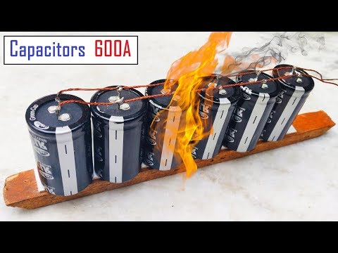 Experiment with 600 Amps Super capacitor | 12v or 3000F Ultra Capacitors