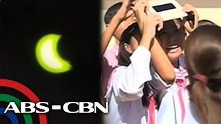 Bandila: 80% solar eclipse observed in GenSan