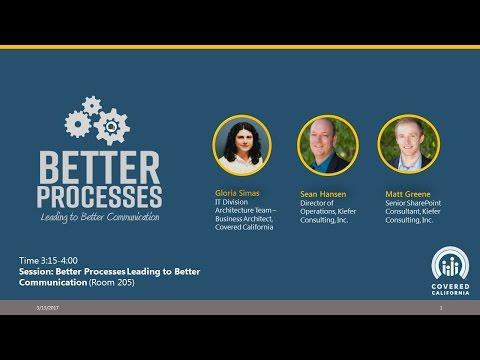GTI2017 Sn24b:  Better Processes Leading to Better Communication - Kiefer