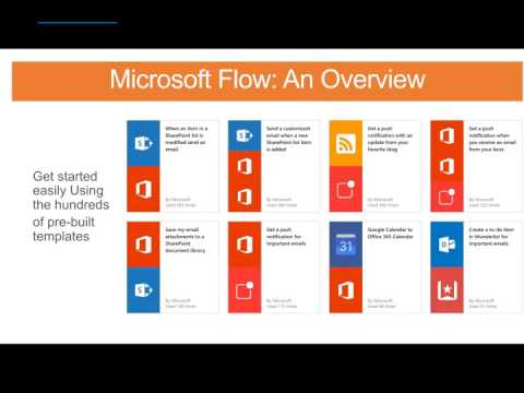 Microsoft Flow: An Overview and Demo