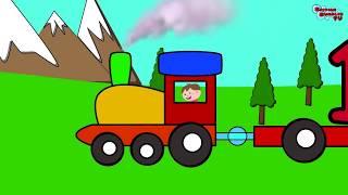 Aprendemos con el tren de los numeros del 1 al 10 en ingles