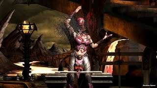 Mortal Kombat X All Test Your Might Deaths on Mileena (HD)
