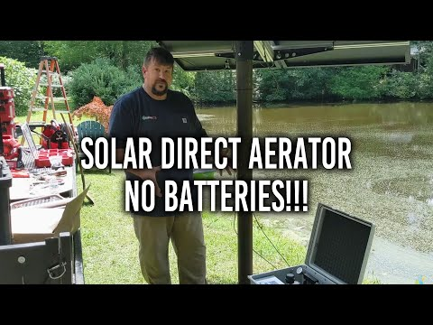 Solar Pond Aeration with NO BATTERIES!
