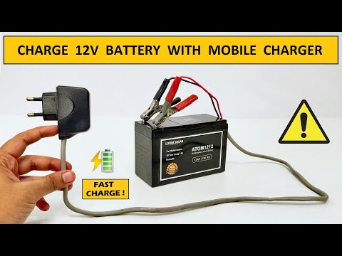 12 Volt Power Supply for 100Ah Battery Charger using Mobile Charger - 220v AC to 12v DC